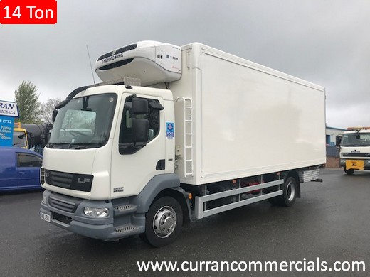 2011 daf lf 55 180 14 ton 22ft fridge for sale