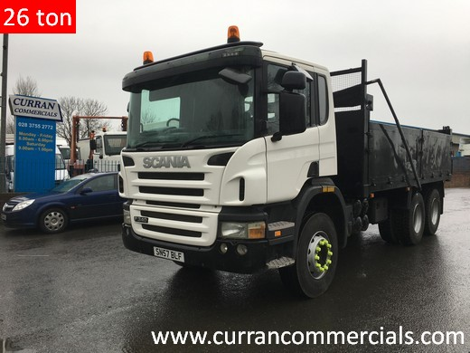 2008 scania P340 6x4 26 ton 17 FT dropside tipper