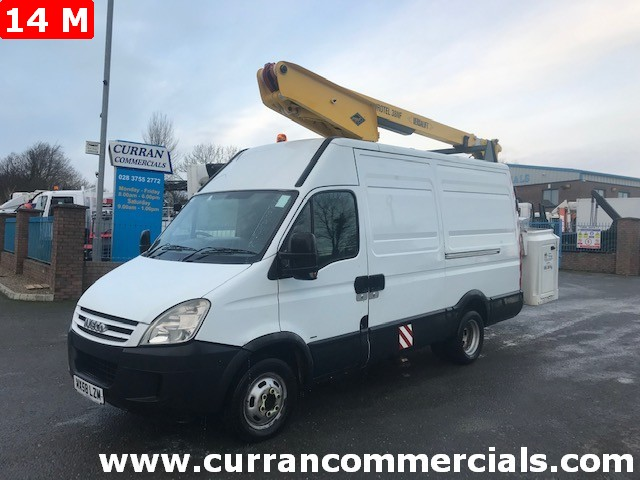 2008 iveco daily 50c15 5.2 ton mwb van with 14m cherry picker