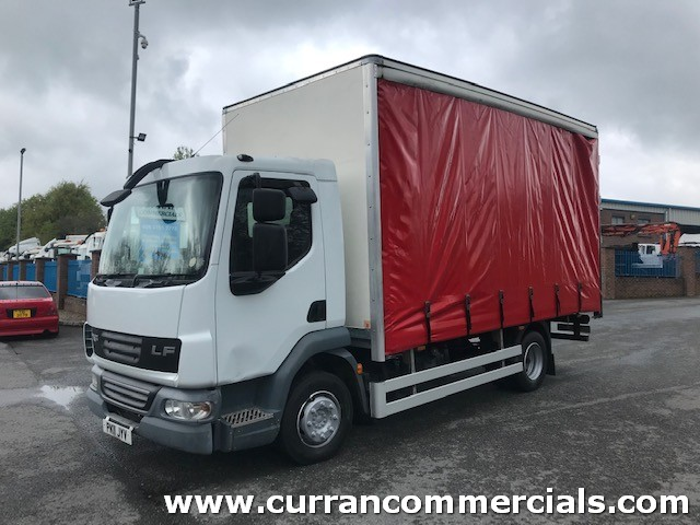 2011 daf lf 45 180 7.5 ton swb 16ft curtainsider body with barn doors