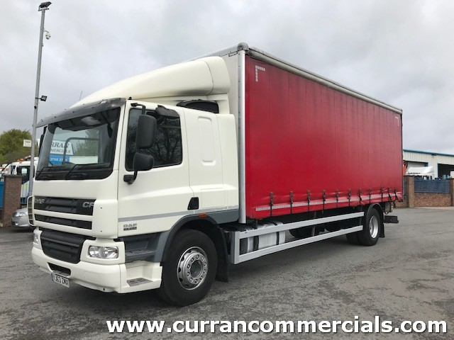 2013 daf cf 65 250 euro 5 4x2 18 ton curtainsider with barn doors and tail lift