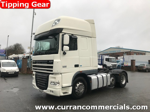 2013 daf xf 105 460 super space 6x2 44 ton tractor unit with tipping gear