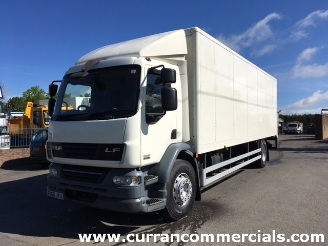 2010 Daf LF 55.220 18 Ton 4x2 on air 28ft box body with 1.5tm tail lift