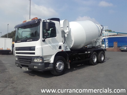 2006 daf cf 75 360 6x4 concrete mixer for sale