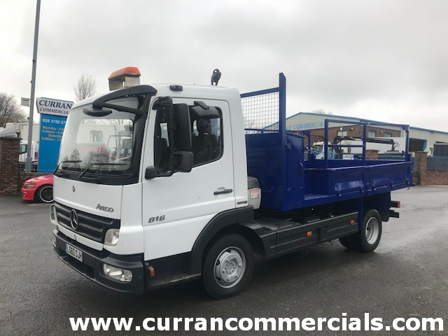 2011 mercedes atego 816 7.5 ton insulated dropside tipper for sale