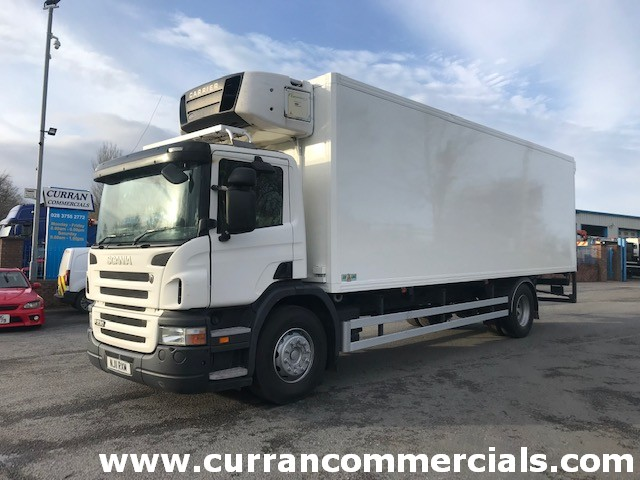 2011 scania p230 4x2 18 ton 28ft fridge with tail lift