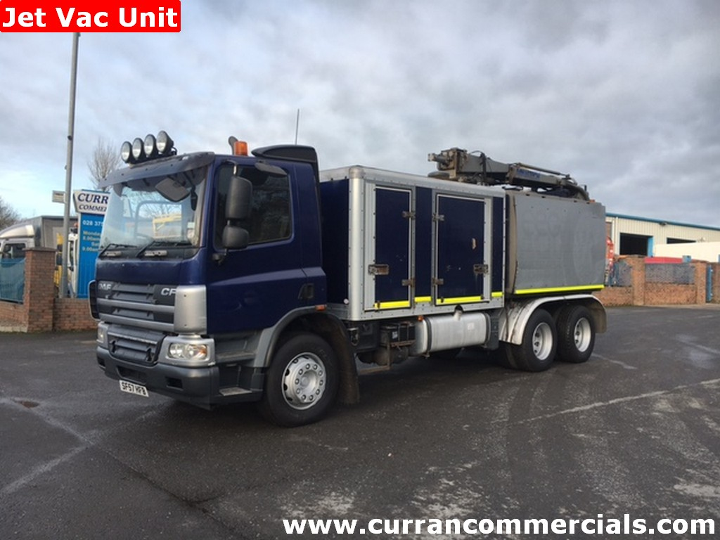 2007 daf cf 75 310 6x4 jet vav lorry for sale