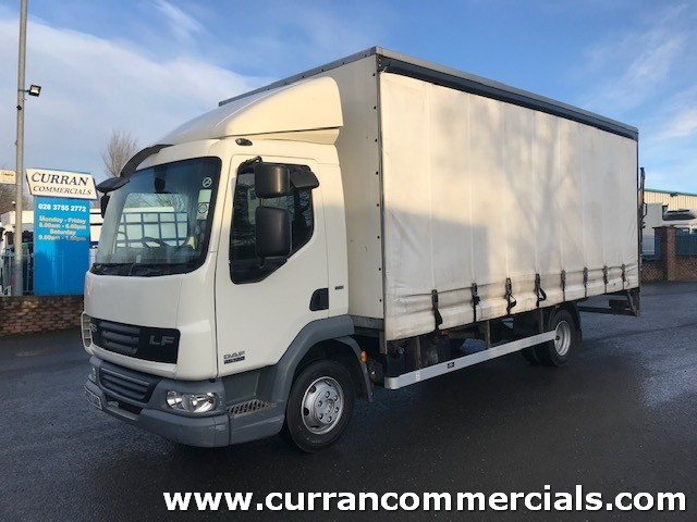 2013 daf lf 45 160 7.5 ton 20ft curtainsider with tail lift