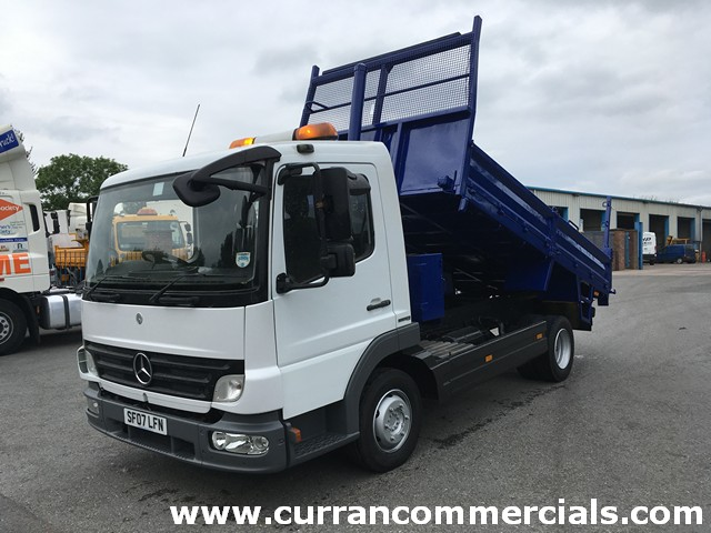 2007 Mercedes Atego 816 7.5 ton Dropside Tipper With Tow Hitch