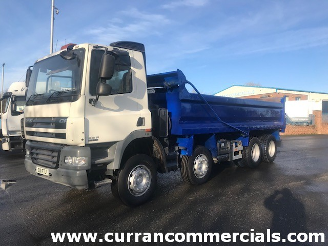 2011 daf cf 85 360 8x4 steel tipper for sale