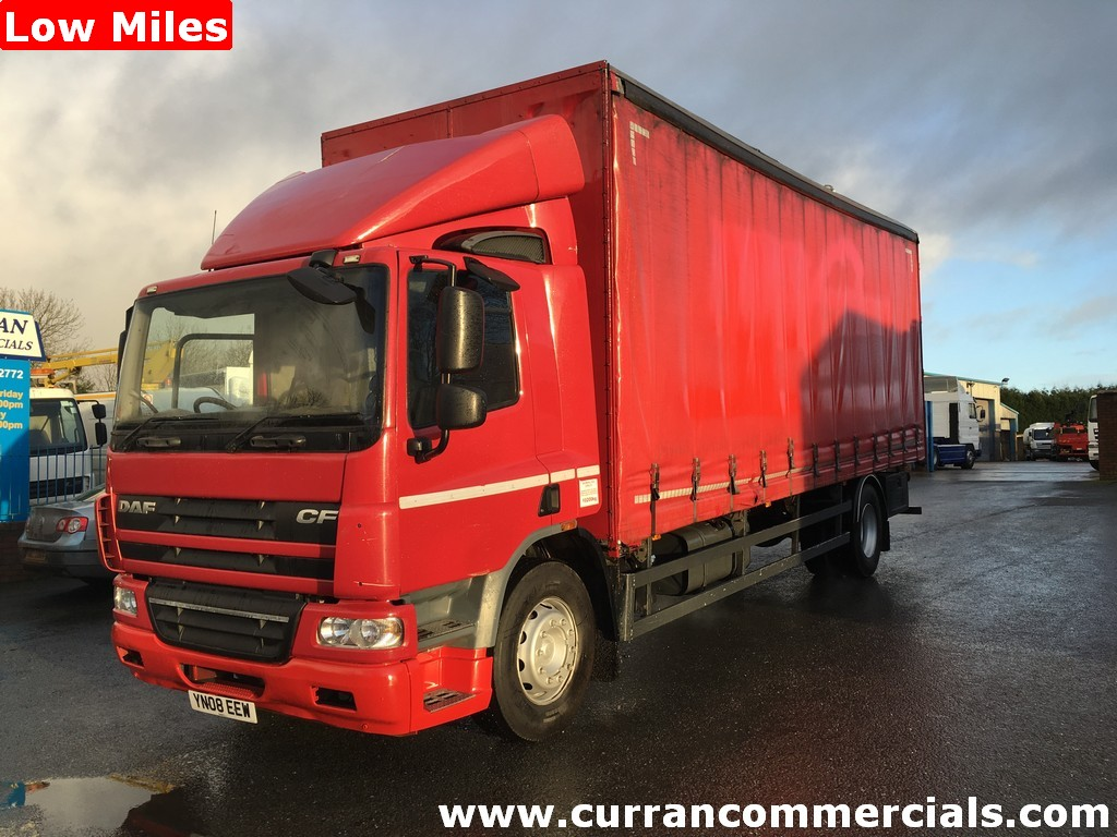 2008 Daf cf 65 220 4X2 18 ton curtainsider Low miles Auto