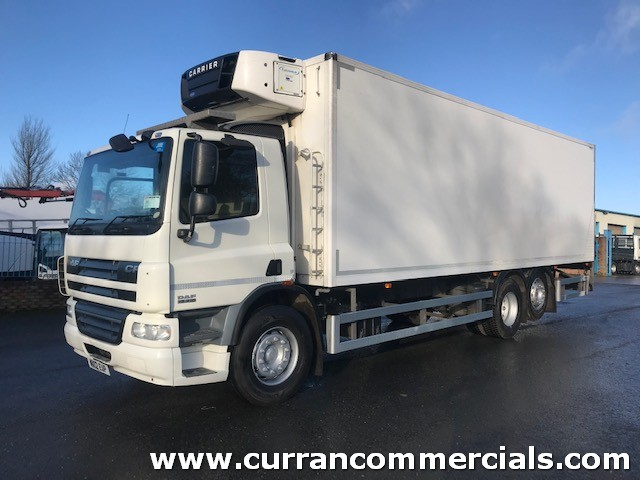 2012 daf cf 75 310 6x2 28ft fridge with tail lift