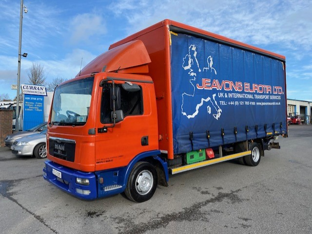 2007 man tgl7.150 7.5 ton 20ft curtainsider with tail lift