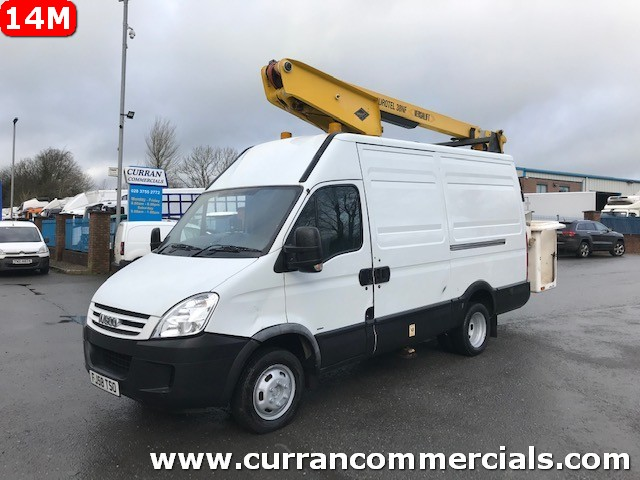 2009 iveco daily 50c15 5.2 ton mwb van with versalift 38nf cherr picker access platform