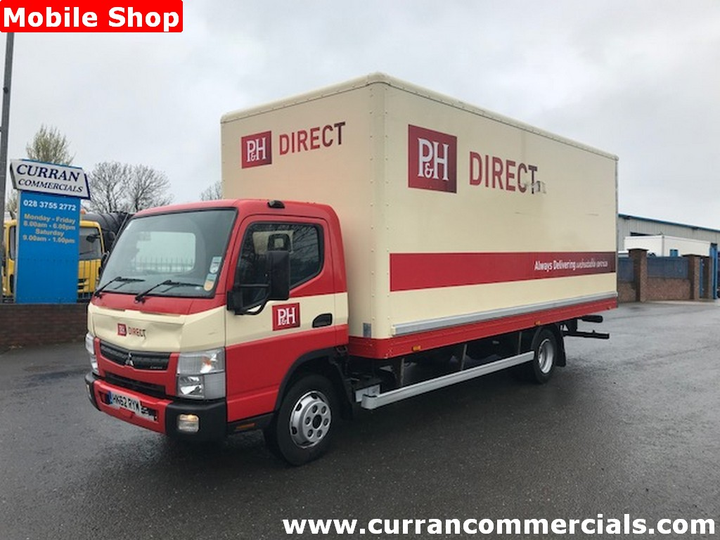 2012 mitsubushi canter fuso 7c15 20ft grp sales box lorry
