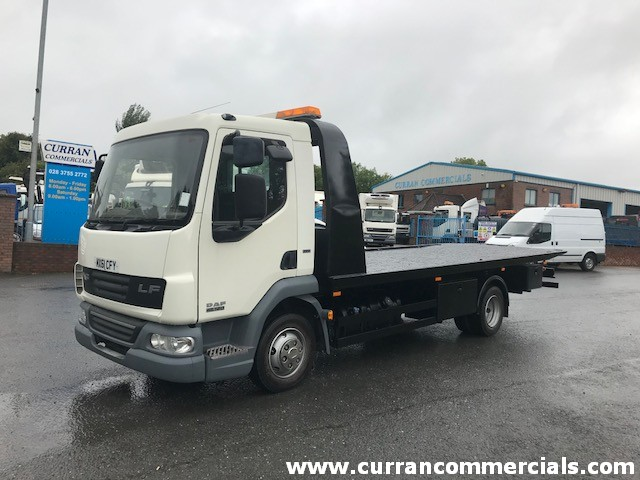2011 daf lf 45 160 7.5 ton tilt and slide recovery lorry for sale