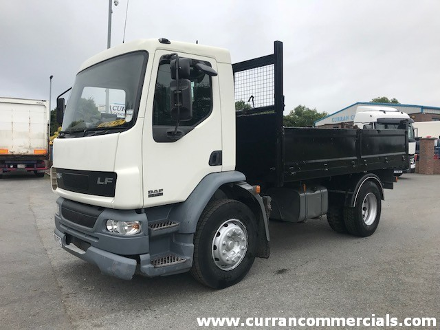 2005 daf lf 55 220 18 ton dropside insulated tipper for sale
