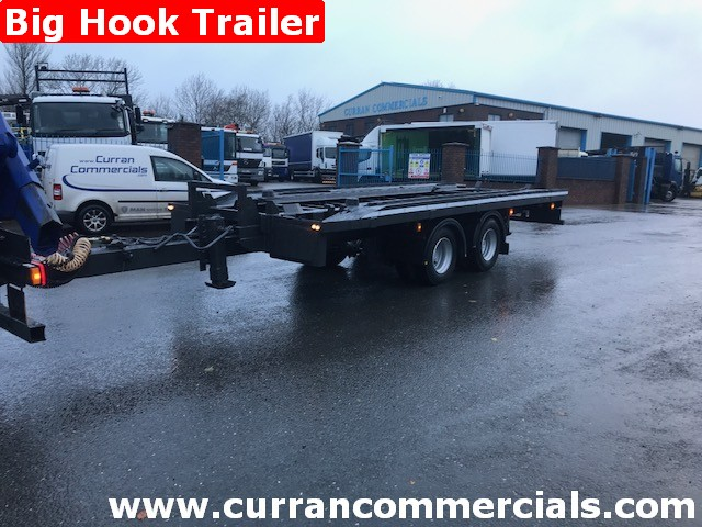 1997 Grafton 2 axle big hook skip trailer