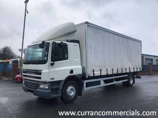 2010 daf cf 65 220 18 ton curtainsider with tail lift for sale