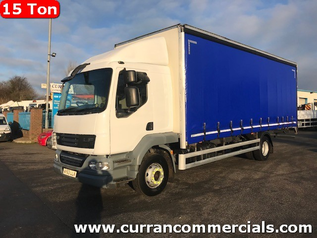 2013 daf lf 55 180 euro 5 15 ton 25ft curtainsider with barn doors