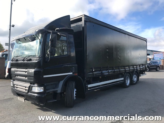2011 daf cf 75 310 6x2 26ft curtainsider for sale