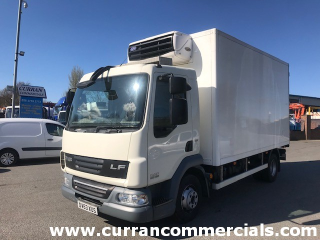 2013 daf lf 45 160 euro5 7.5 ton fridge with 3 barn doors
