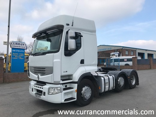 2011 renault premium 460dxi 6x2 tractor unit for sale