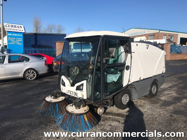2013 johnston 142A precinct compact road sweeper