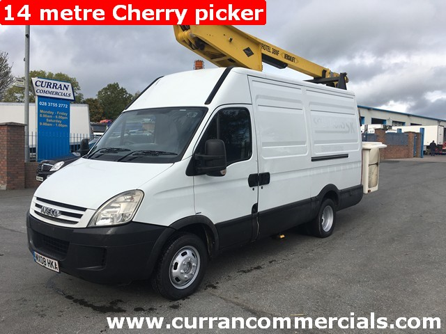 2008 Iveco Daily 3.0HPI 5.2 Ton 14 Metre Cherry picker LOW KMS!