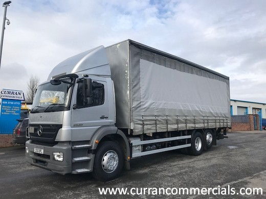 2010 mercedes 2529 axor 6x2 29ft curtainsider with tail lift for sale