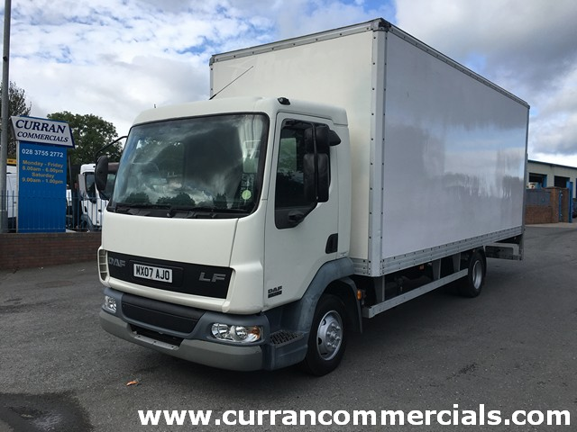 2007 07 Daf LF 45.150 7.5 ton 20ft Box Body with 1.5 ton Tail Lift
