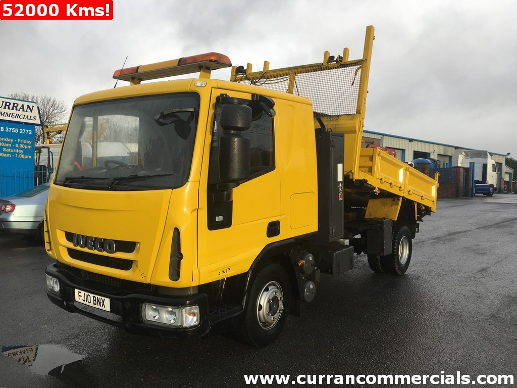 2010 Iveco 75E16 7.5 ton Dropside Tipper + tow hitch low kms Auto