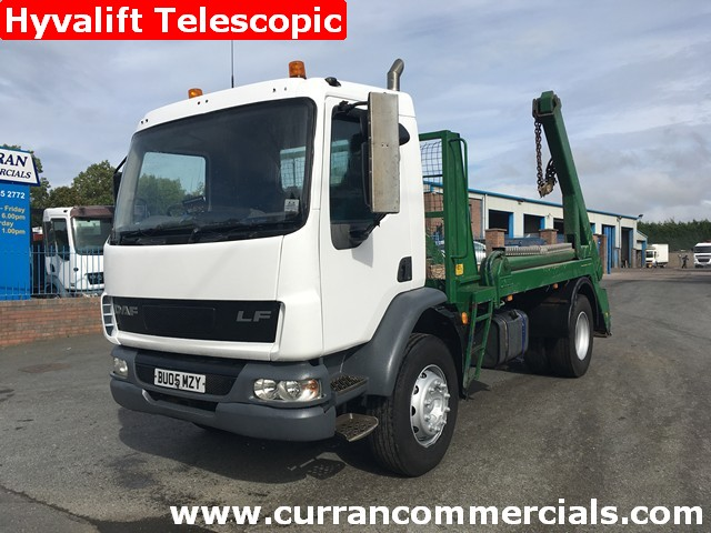 2005 Daf LF 55 220 18T Telescopic Skip Loader Lorry Refuse Bin Wagon