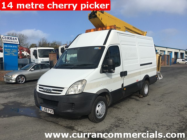 2008 Iveco Daily 50c15 5.2 Ton 14 Metre Cherry picker Access Platform 108kms